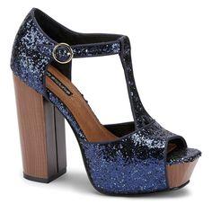 #shoes #sandals #heels #platform #glitter #sparkle #glam #party #blue