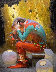 Il mondo di Mary Antony: Victor Nizovtsev- The Jokers Victor Nizovtsev, Pierrot Clown, Magic Realism, Photocollage, Light Of The World, Clowns, Russian Art, Surreal Art, Satire