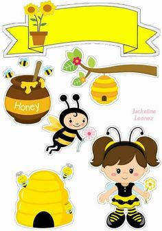 Bumble Bee Birthday, Bee Drawing, Bee Party, Shrinky Dinks, Giant Paper Flowers, Bee Theme, Mason Jar Crafts, Scrapbook Albums, Clipart