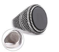 TANOS -pánsky pečatný prsteň - osadený čiernym kameňom- chirurgická oceľ,v.:67,5 Titanic, Lapis Lazuli, Gemstone Rings, Gemstones, Jewelry, Jewlery, Gems, Jewerly, Schmuck