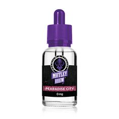 Motley Brew E-Liquids Pearadise City 30ml - Primary Flavors: Pear, Lychee, Mint This boldly sweet treat will take you down to pearadise city with the essence of exotic lychee, coupled with the juiciest pears on earth, and then blended perfectly in silky French vanilla bean cream. A sprig of fresh mint finishes this ambrosius brew for a cooling, yet contrasting delight.70% VGShips from Motley Brew - Florida