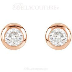 BELLA COUTURE ® - (NEW) Bella Couture® Fine 1/2 CT Diamond 14k Rose Gold Classic Stud Earrings, $895.00 (http://www.bellacouture.com/new-bella-couture-fine-1-2-ct-diamond-14k-rose-gold-classic-stud-earrings/)
