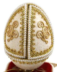 decorated glass egg
