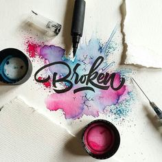 Broken - From beautiful brush work by @drenueno __ Featured by @thedailytype…