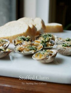 Stuffed Clams - Palourdes Farcies: Guest Post by Try Anything Once, Featured on cravingsofalunatic.com- Stuffed clams perfect for a weekday or weekend dinner. Such a great addition to #SeafoodWeek. (@CravingsLunatic)