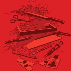 Kill tools from Dexter t-shirt. In case you wanted something to get you through the dry season...! $18.95