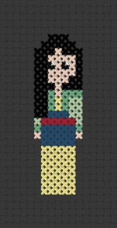 Pixel+Princess++Mulan+Printable+Cross+Stitch+by+ThatsSewEllie,+$2.00