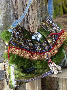 PILGRIM -- tourist tapestry tote, tribal, hippie, hobo, travel, boho, one of a kind -- Ready to SHIP