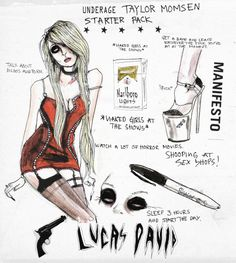 under-age taylor momsen starter pack Aesthetic Drawing, Aesthetic Art, Lucas David, Taylor Momson, Sad Art, Just Girl Things, Skull Art, Art Sketchbook, Beautiful Artwork