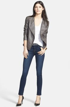 Trouvé Leather Jacket, rag & bone/JEAN Tank & J Brand Skinny Jeans | Nordstrom Chapter 1