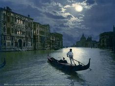Spectacular hand-colored postcards of 19th-century;  Venice 1890