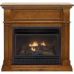 ProCom Dual Fuel Vent-Free Fireplace — 26,000 BTU, Apple Spice Finish, Model# FBD28T-J-AS