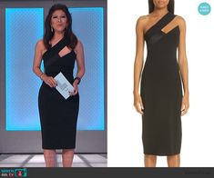 Julie's black sleeveless cutout dress on Big Brother Cutout Dress, Lace Dress, Big Brother Style, Julie Chen, Scalloped Dress, Bow Blouse, Asymmetrical Tops, Pencil Dress, Fashion Outfits