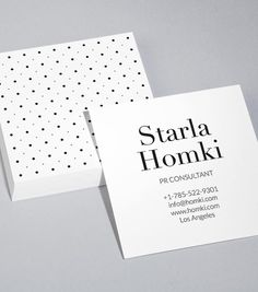 MOO  Dot Luck Square Business Card Design Templates