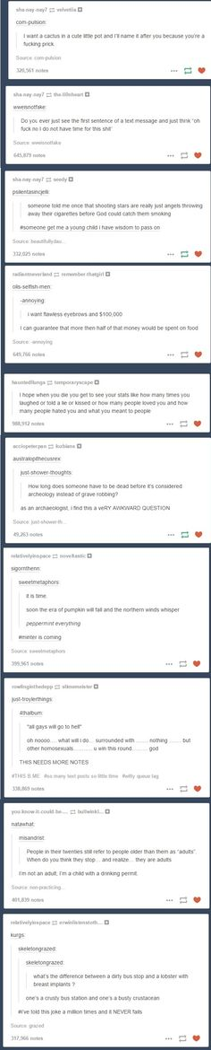 Some of the funniest text posts I've seen