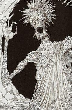 jeannygrey: The Graveyard Book by Neil Gaiman, illustrated by Chris Riddell Neil Gaiman, Storybook Character Costumes, The Graveyard Book, Book Aesthetic, Gothic Aesthetic, Danse Macabre, Bd Comics, Fantastic Art, Female Character Design