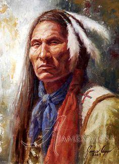 native american art by james ayers | ... Lakota), James Ayers original painting, 2009 | by James Ayers Studios