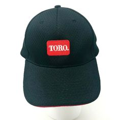4ad6feb8 Toro Black Baseball HAT CAP Front Logo Landscape Equipment Sz Large  Strapback #Toro #BaseballCap