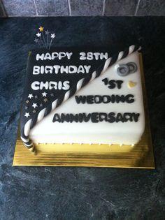 Joint birthday/anniversary cake