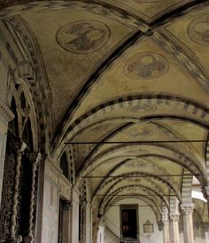 Santa Maria Novella - Church and Cloisters - Florence. Green Cloister.