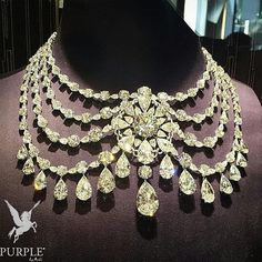 Be an instant trend setter with this jaw-dropping diamond necklace piece by…