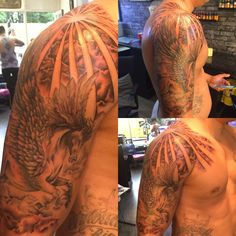 Risultati immagini per lion rising sun tattoo Quarter Sleeve Tattoos, Half Sleeve Tattoos For Guys, Best Sleeve Tattoos, Sun Rays Tattoo, Rising Sun Tattoos, Storm Tattoo, Cloud Tattoo, Full Sleeve Tattoo Design, Half Sleeve Tattoos Designs