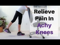 8 Exercises To Relieve Pain In Achy Knees - Fitness With Cindy Knee Arthritis, Knee Osteoarthritis, Knee Strengthening Exercises, Aerobic Exercises, Stretches, How To Strengthen Knees, Knee Pain Relief, Senior Fitness