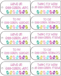 Free easter gift tag printable pdf 6 tags to a sheet simply download easter gift tag printables negle Images
