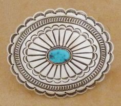 Native American turquoise concho belt buckle from Kokopelli Traders - Native American Jewelry