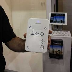 At CES, iDevices showed off iShower, a $100 Bluetooth enabled speaker that's water resistant.- Joel Needs this