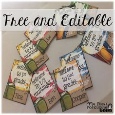 Free and Editable Brag Tags for Back to School: Grades K-6.  Perfect for back to school.  Download at:  https://www.teacherspayteachers.com/Product/Editable-Welcome-Back-to-School-Brag-Tags-for-K-6-2613054