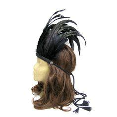 Black Feather Headdress Festival Headdress Hair by curtainroad