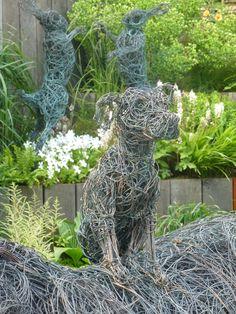 Dog Sculpture Chelsea Flower Show 2015
