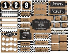 First Grade Glitter and Giggles: Burlap & Black