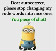 ♥♥HAHAHAH Good one Little Minion♥♥♥ Funny Minion Pictures, Funny Minion Memes, Minions Quotes, Funny Jokes, Hilarious, Funny Images, Minion Humor, Funny Insults, Funny Photos