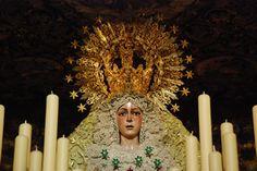 statue of La Macarena during Semana Santa. Patron saint of matadors.