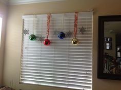 Dollar store ornaments. Total cost: less than $5