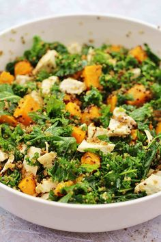 Leftover Chicken, Kale, Quinoa and Pumpkin Salad - Easy Peasy Foodie Cooked Chicken Recipes, Leftover Chicken Recipes, How To Cook Kale, How To Cook Chicken, Superfood, Quinoa, Pumpkin Salad, Pumpkin Squash, Butternut Squash