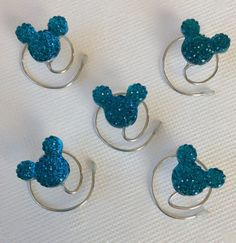A new color for the #mouse ears collection.  MOUSE EAR Hair Swirls for Themed Wedding in by hairswirls1 on Etsy, $12.99