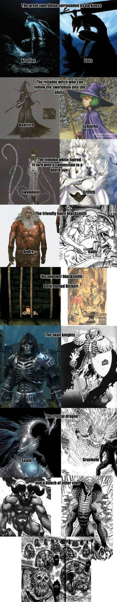 Dark Souls,фэндомы,Manga,Манга,Anime,Аниме,Berserk,reference,Anime Комиксы
