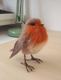 Needlefelted robin