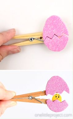 Peek-a-boo Clothespin Eggs