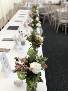 A pretty take on the traditional top table garland, these gorgeous rustic jars make the perfect floral addition to your top table decor. Table Garland, Table Decorations, Wedding Top Table Flowers, Jars, Beautiful Flowers, Bloom, Make It Yourself, Rustic, Traditional