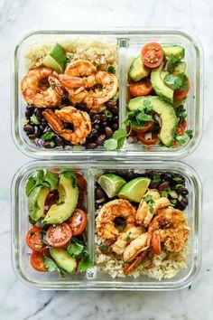 Chipotle Lime Shrimp Bowls recipes   foodiecrush.com #shrimp #ricebowls #healthy #Mexican