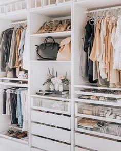 small closet ideas, Closet Designs, wardrobe design, walk-in closet ideas, dressing room ideas Walk In Closet Design, Bedroom Closet Design, Master Bedroom Closet, Closet Designs, Walk In Closet Ikea, Diy Bedroom, Small Walk In Wardrobe, Bathroom Closet, Master Bedrooms