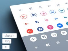 Flat social media icon set you in many types and sizes.