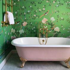 modern boho bathroom remodel 29 ⋆ Home & Garden Design Clawfoot Tub Bathroom, Rustic Bathroom Vanities, Bathroom Layout, Bathroom Sets, Small Bathroom, Master Bathroom, Bathrooms Decor, Bathroom Green, Cozy Bathroom