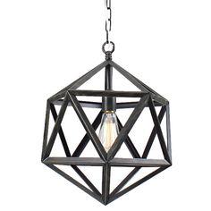 The Lighting Store Multangular Iron 1-light Antique Bronze Chandelier