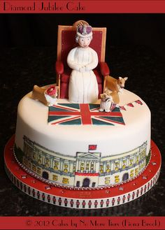 Diamond jubilee cake by Cakes by No More Tiers (York), via Flickr