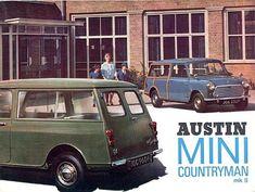 Austin Mini, Austin Cars, Classic Mini, Classic Cars, Van Car, Car Brochure, Mini Countryman, Minis, Car Advertising